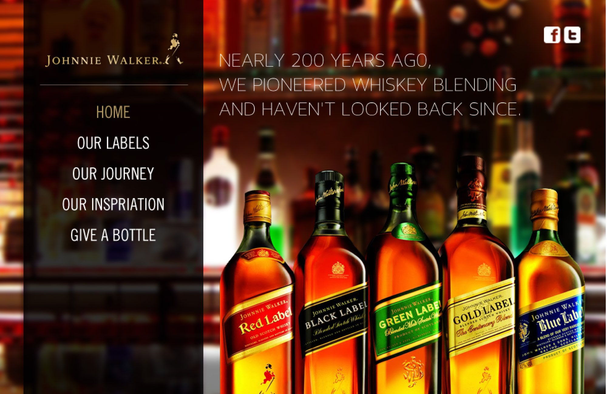 home page redesign Johnnie Walker